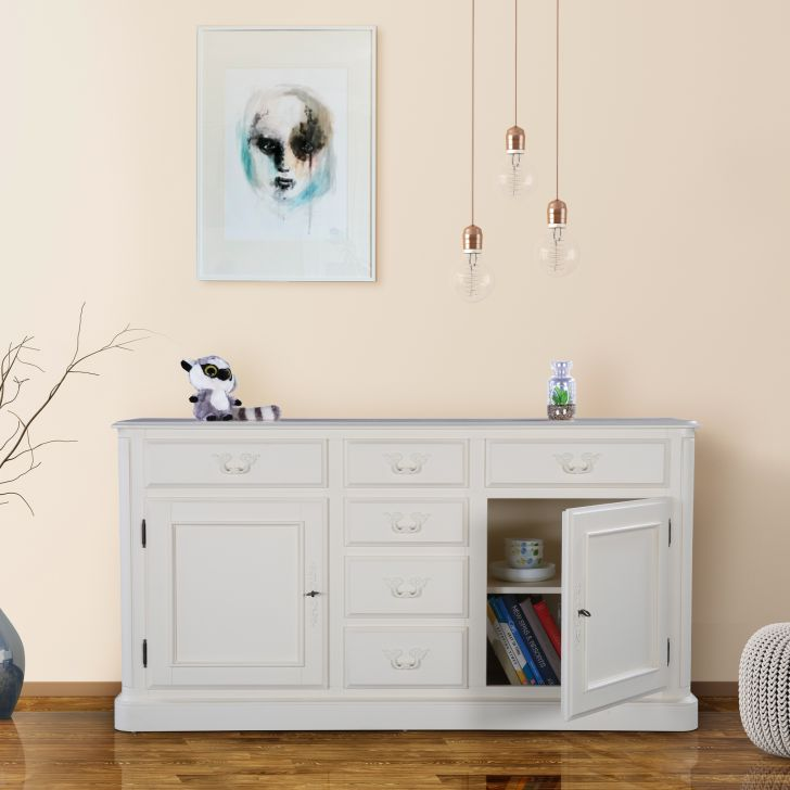 Provencale Solidwood Storage Sideboard in Ivory Colour