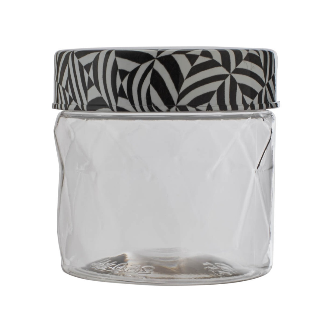 Clark Container 250 ml Plastic Containers in Transparent Container & Black Whitelid Colour by Living Essence