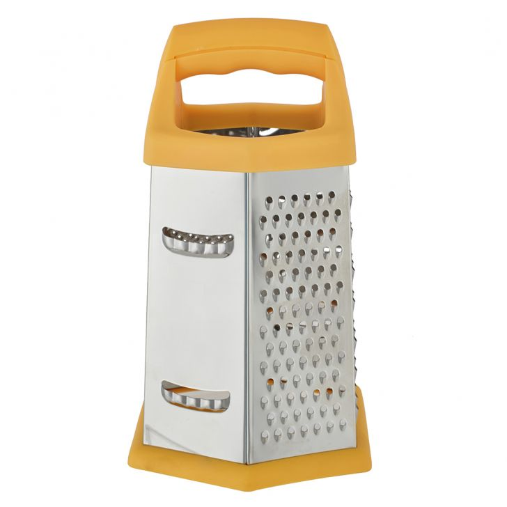 Ss 6 Sided Grater Stainless steel Knives & Graters in Silver Colour by Living Essence