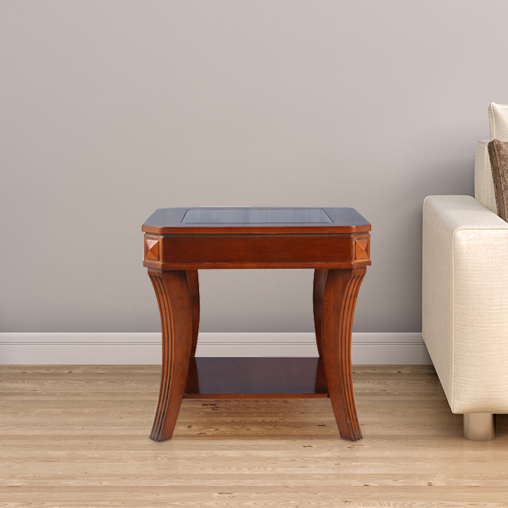 Daffny Engineered Wood End Table in Brown Colour by HomeTown