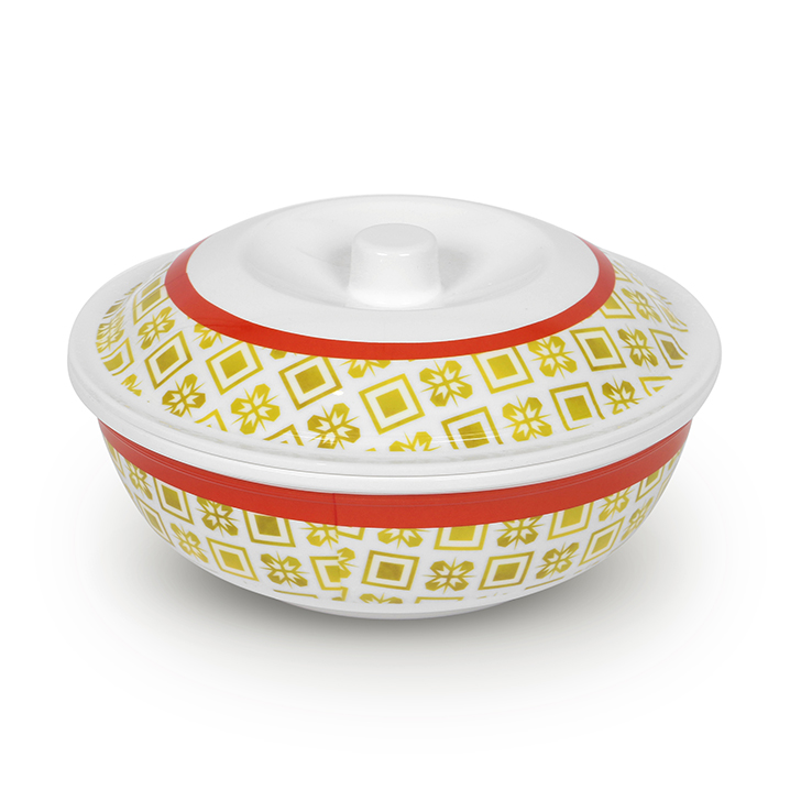 Melamine Serving Bowl Yellow And Red Food Grade Melamine Serving Bowls in Yellow & Red Colour by Living Essence