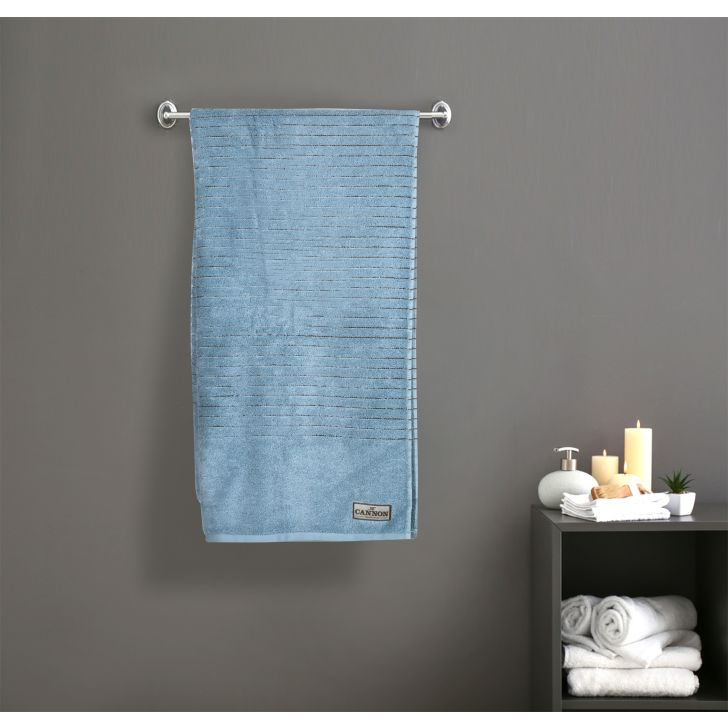 Zero Twist 2Ply Cotton Bath Towels in Blue Colour by Cannon