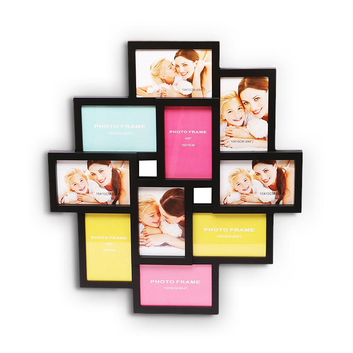 HomeTown Theo Mdf And Glass 10 in 1 Photo Frame Assorted