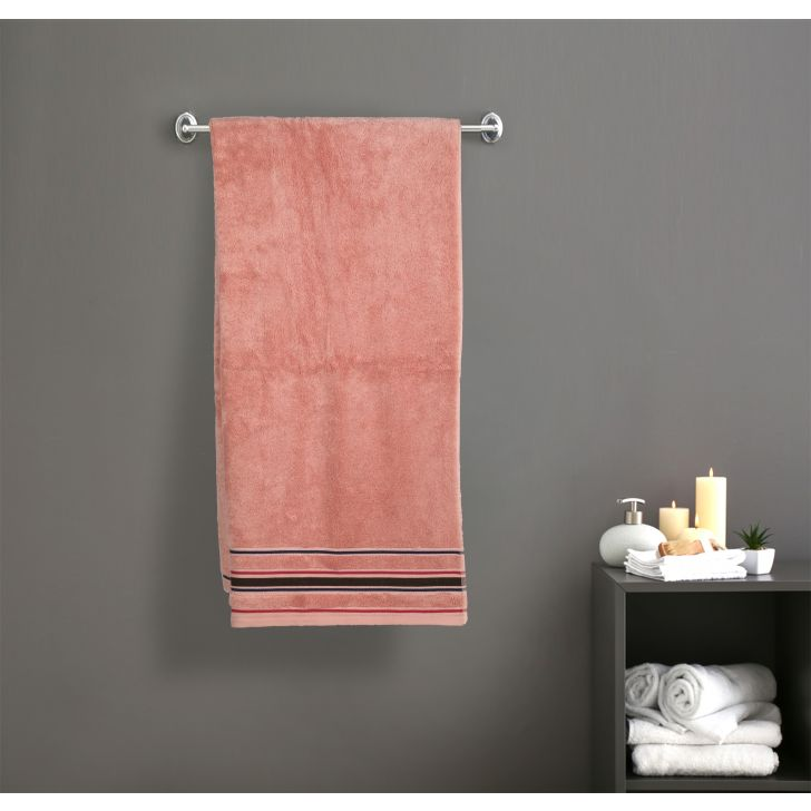 Seriosly Soft Cotton Bath Towels in Peach Colour by Cannon