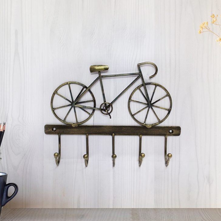 Cycle Hook Wall D Iron Wall Accents in Multi Colour by Royce