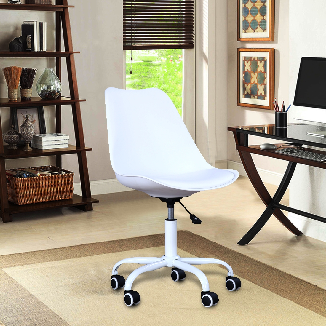 Junior Plastic Study Chair in White Color by HomeTown