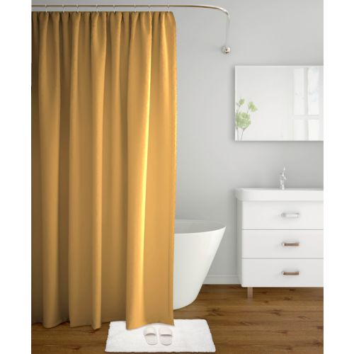 Buy Tangerine Polyester Shower Curtains In Beige Colour By Online At Best Price