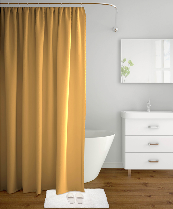 Tangerine Polyester Shower Curtains in Beige Colour by Tangerine