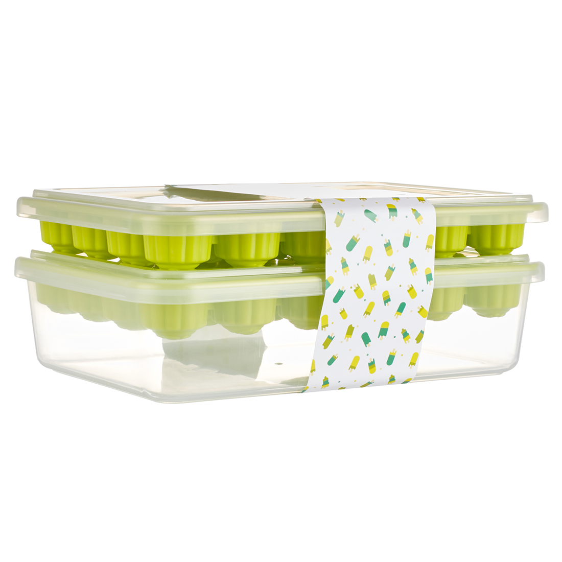 Ice Plastic Tray in Green Colour by Living Essence