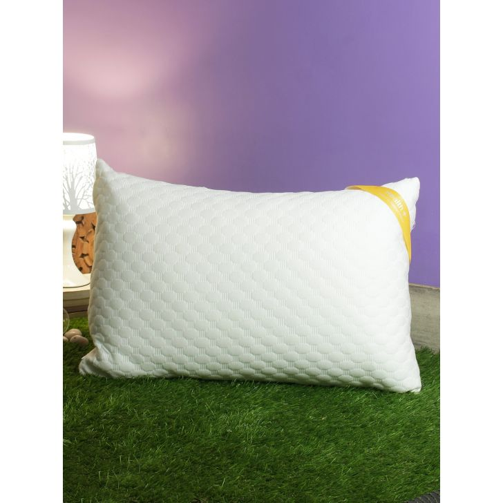 Health Plus Memory Foam Pillows in White Colour by Living Essence
