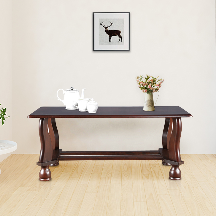 Clyde Solid Wood Center Table in Dark Cappuccino Colour by HomeTown