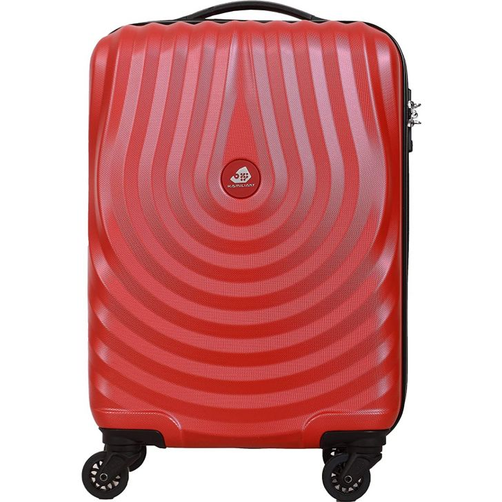 Kamiliant Kapa 55 cm Polycarbonate Hard Trolley in Red Colour by KAMILIANT