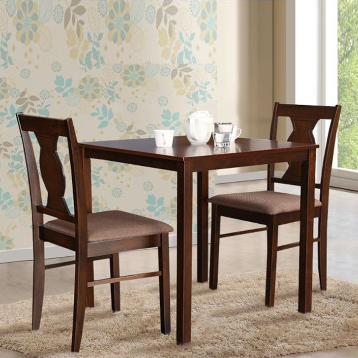 Artois Solid Wood Two Seater Dining Set in Antique Cherry Colour by HomeTown