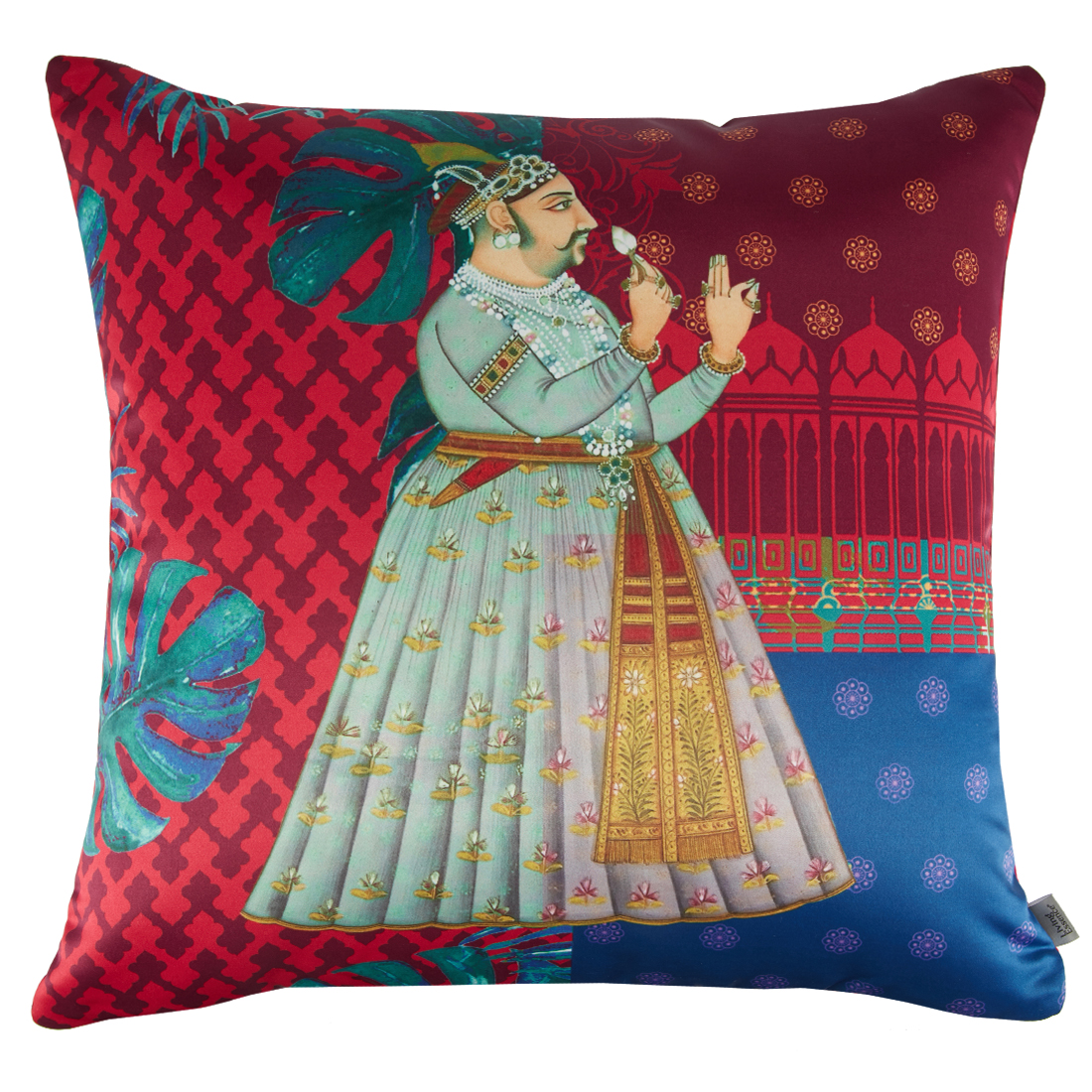 Digital Cushion Cover Raja Cushion Covers in Poly Satin Colour by Living Essence