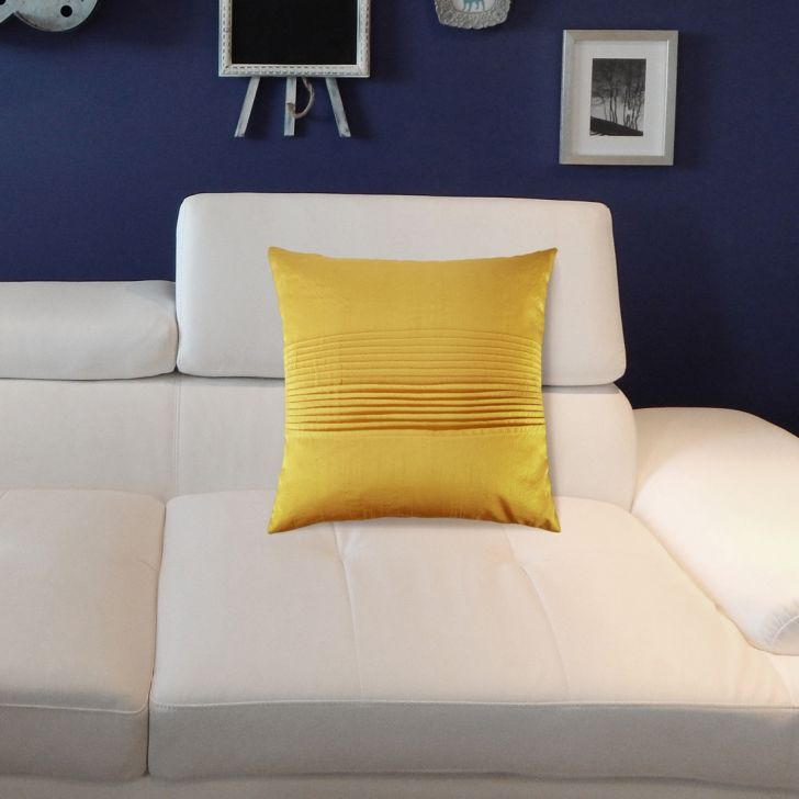 Napa Cotton Cushion Covers in Citron Colour by Living Essence