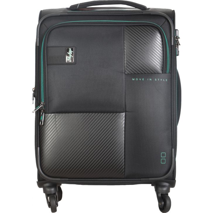 Skybags Cardinal 4W Expandable 58 cm Soft Trolley (Black)