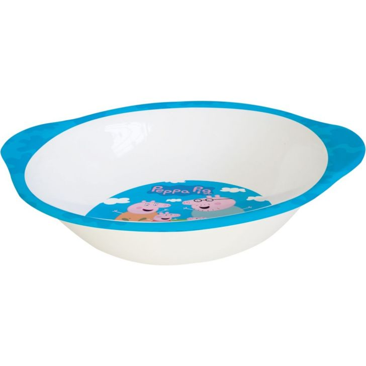 Peppa Pig Melamine Kids Bowl with Handle in Multi Colour by Servewell