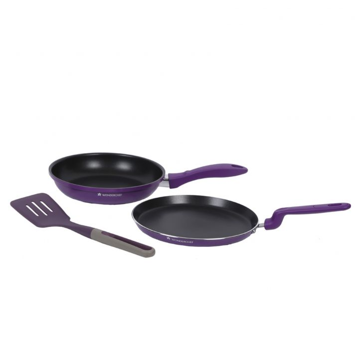 Elite Cookware Set Aluminium Cookware Sets in Purple Colour by Wonderchef