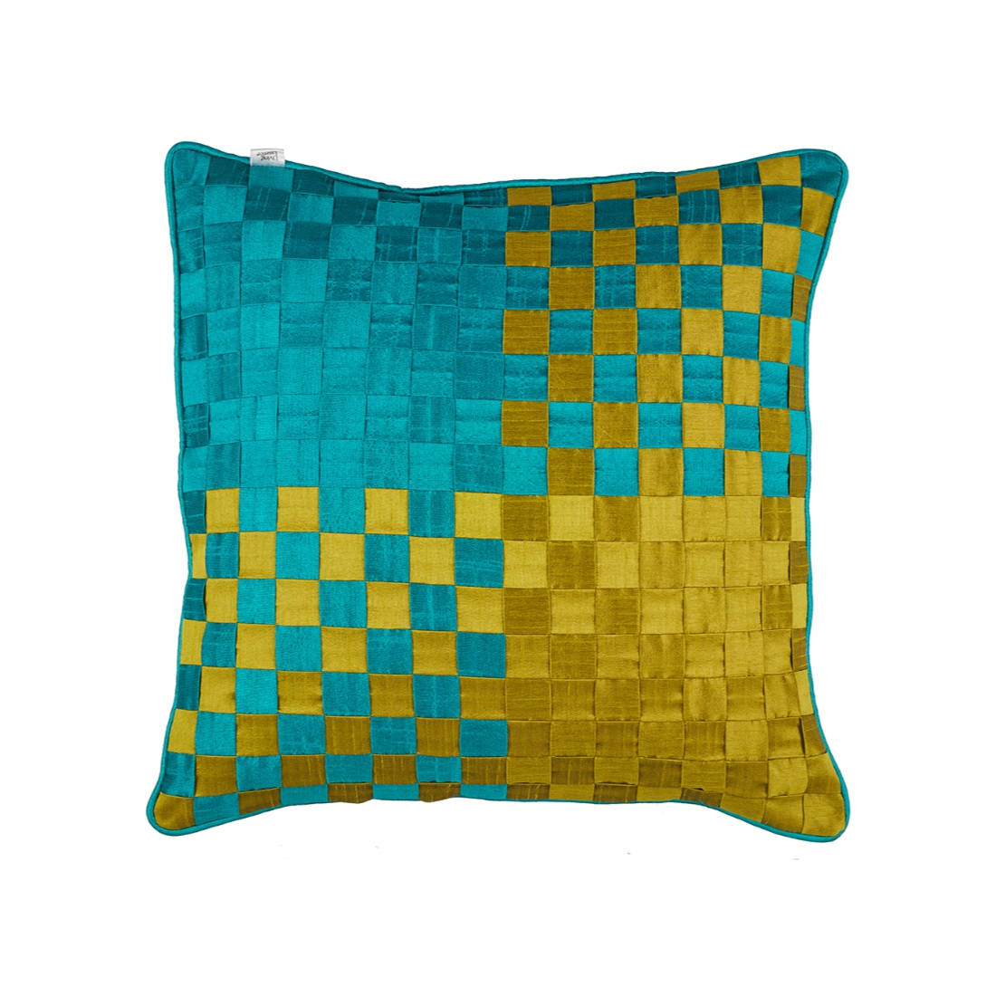 Living Essence Polyester Cushion Covers in Green Colour by Living Essence