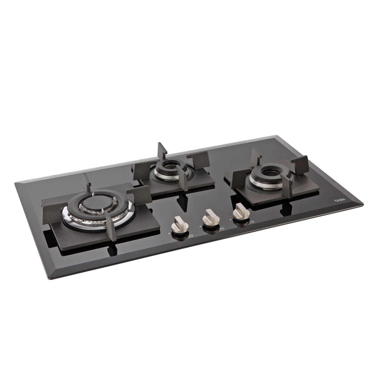 Glen 3 Burner Built in Glass Hob 1073 by Glen