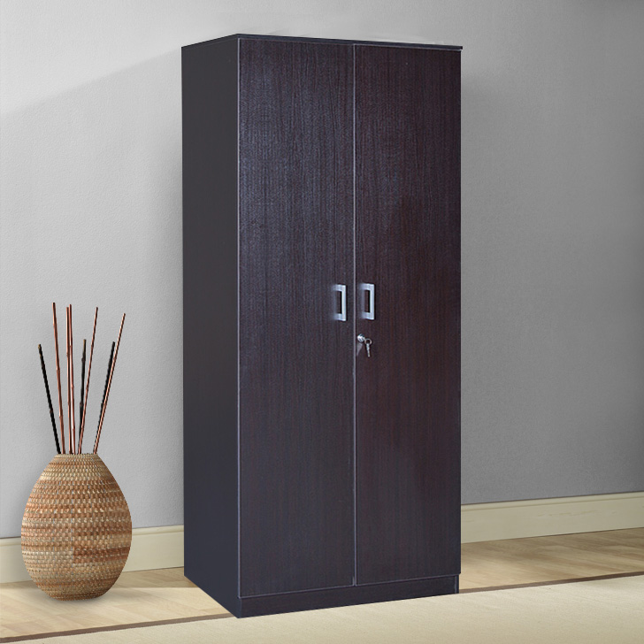 Premier Engineered Wood Two Door Wardrobe in Wenge Colour by HomeTown