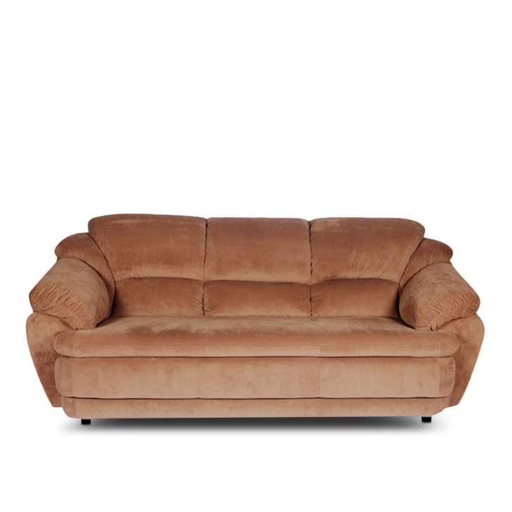 Comfort Fabric Three Seater sofa in Brown Colour by HomeTown