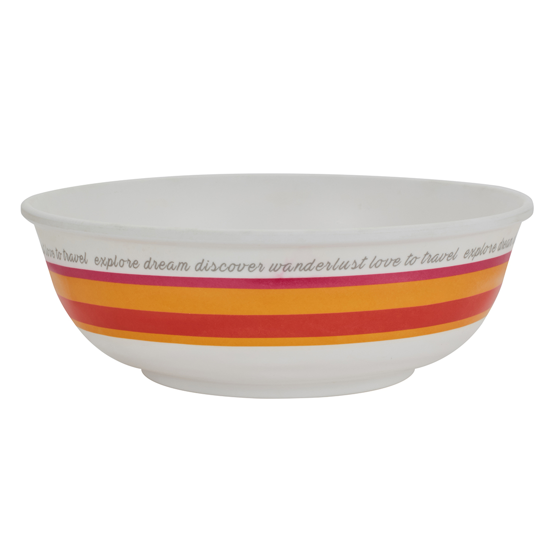 Persain 5Th Avenue Round Serving Bowl Food Grade Melamine Serving Bowls in Multi Color Colour by Living Essence
