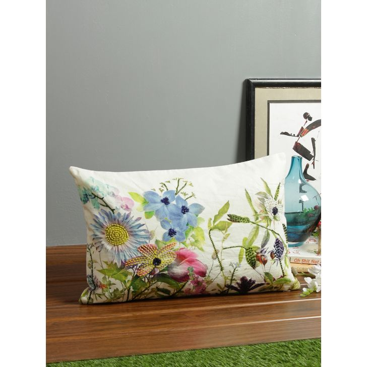 Tropical Bizarre Cotton Cushion Covers in Green Colour by Living Essence