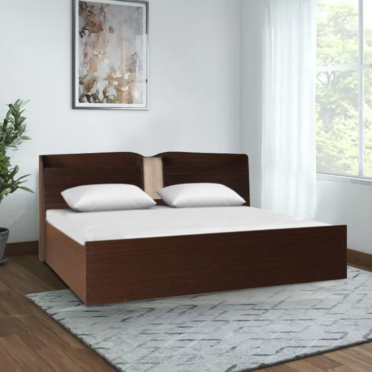 Magnum Engineered Wood Box Storage Queen Size Bed in Vermount Colour by HomeTown