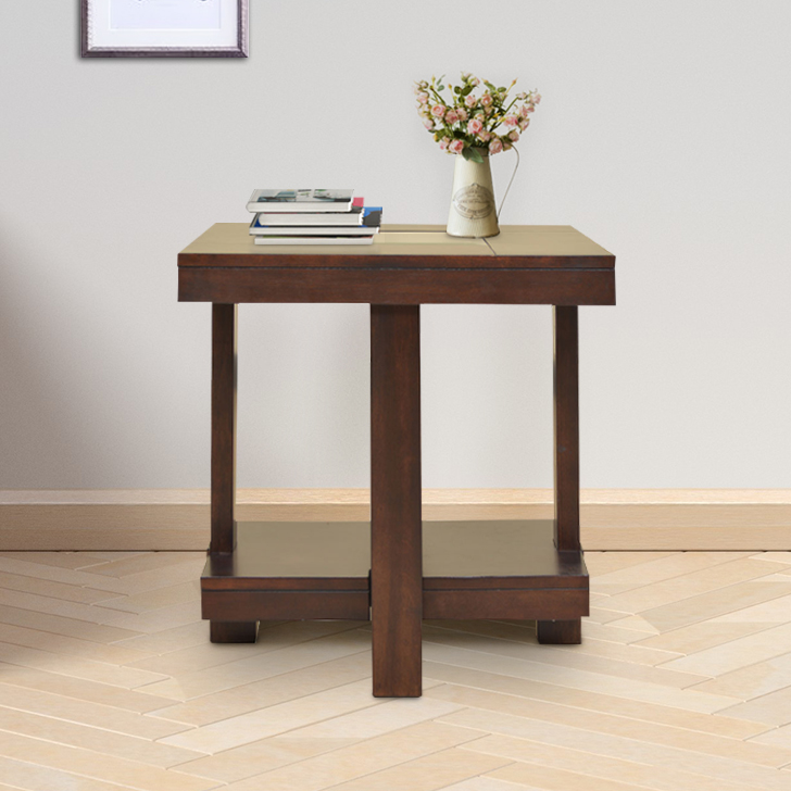 Joss Engineered Wood End Table in Dark Walnut Color by HomeTown