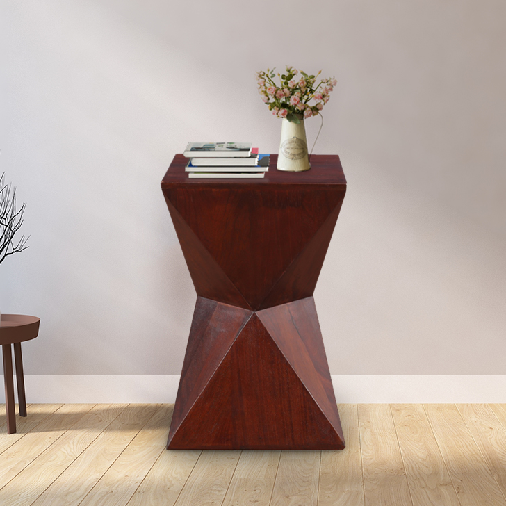 Jacoby Sheesham Wood(Rosewood) Stool in Brown Colour by HomeTown