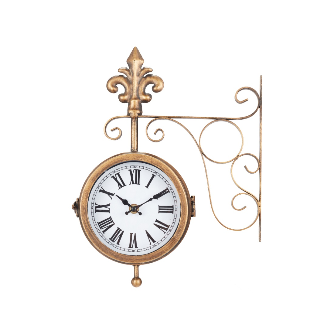 Aeon Station Clock Plastic Station Clocks in Antique Colour by Living Essence