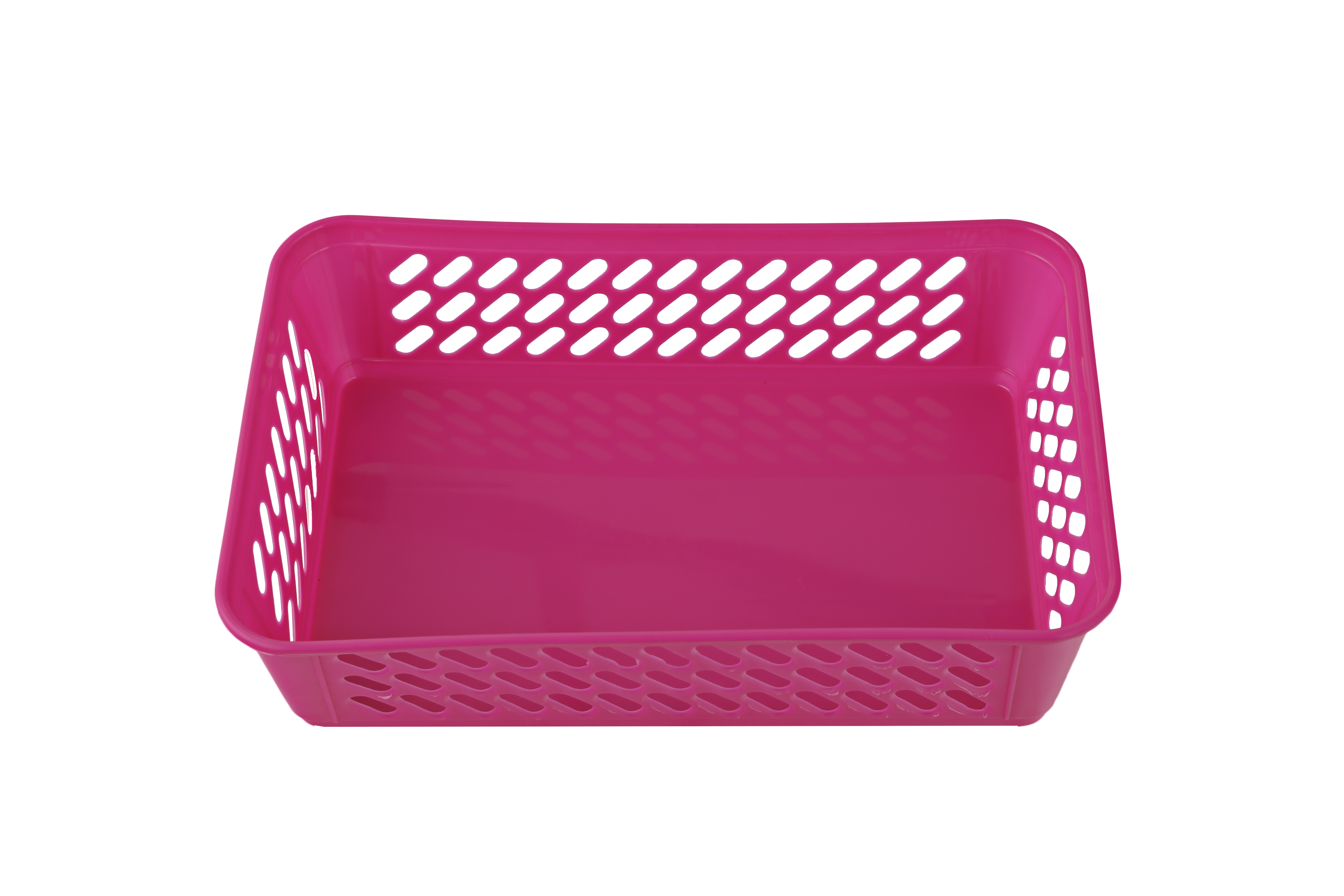 Sieve Multi Purpose Basket Pink Plastic Kitchen Storage in Pink Colour by Living Essence