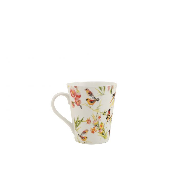 Kingfisher Sing Mug Ceramic Coffee Mugs in Multicolor Colour by HomeTown