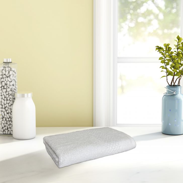 Spaces Cotton Hand Towel in Pearl Colour by Spaces