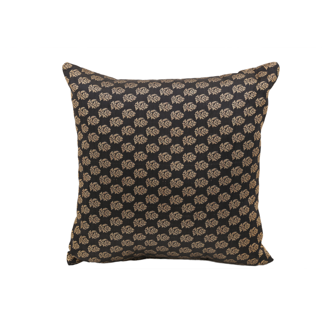 Miraya Black Gold Polyester Filled Cushions in Black Gold Colour by Living Essence