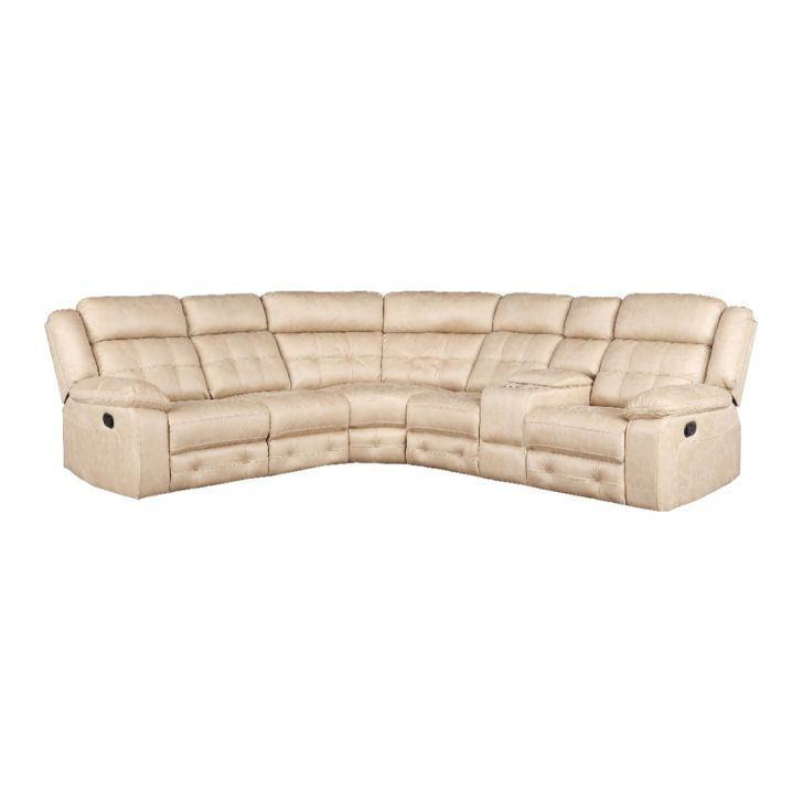 Zurich Fabric Lounger With Two Manual Recliner in Beige Colour by HomeTown