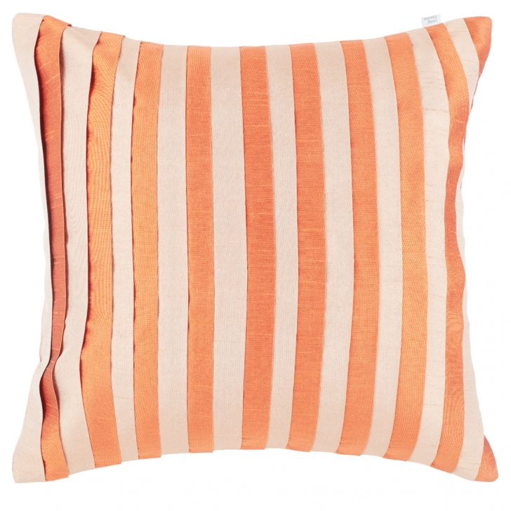 Antila Polyester Cushion Covers in Rust Colour by Living Essence