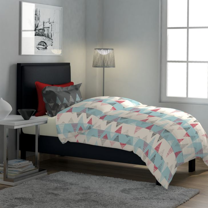 Classic Polycotton Single Bedsheet in Blue Colour by Dreamline