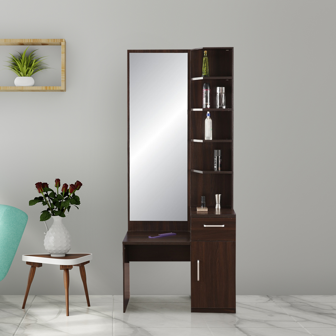 Magnolia Engineered Wood Dressing Table in Oak Colour by HomeTown