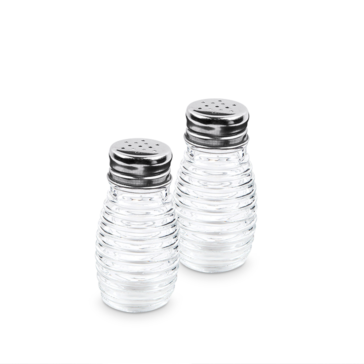 Glass Salt & Pepper by Living Essence