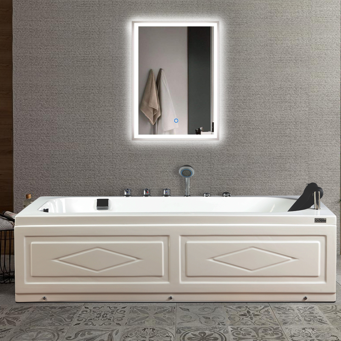 Emotion Bath Tub in White Colour by HomeTown