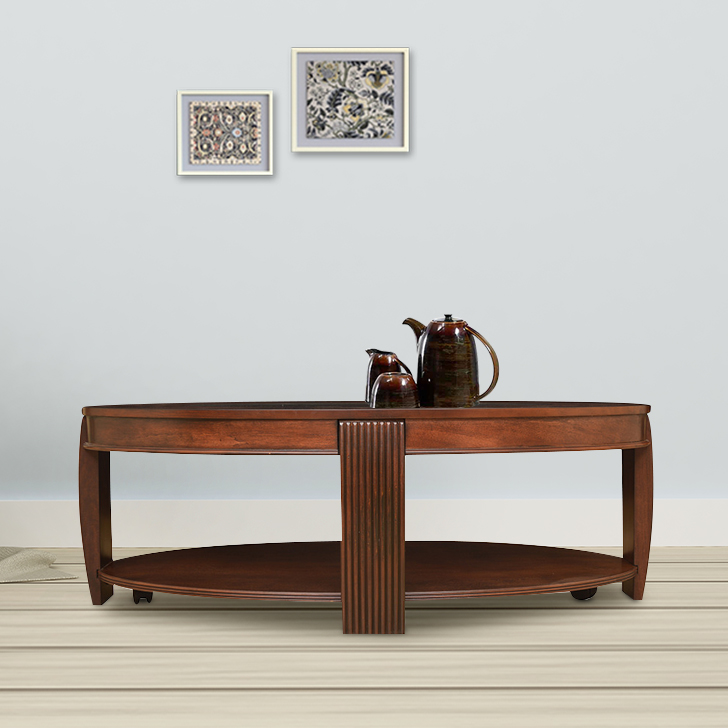 Marion Solid Wood Center Table in Cherry Colour by HomeTown