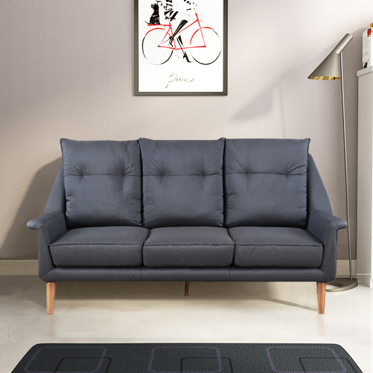 Orwell Fabric Three Seater Sofa in Grey Colour by HomeTown