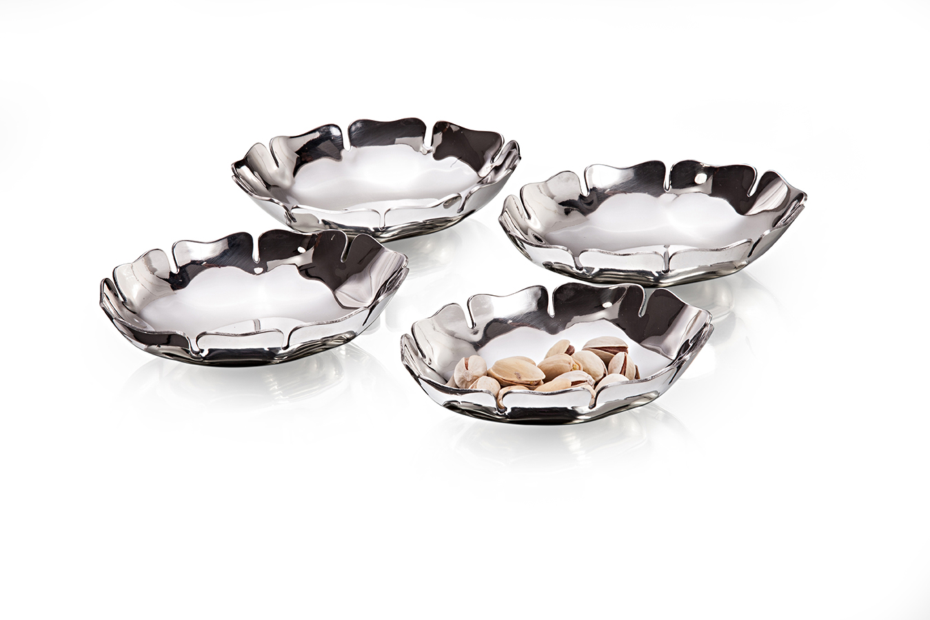 4 Pcs Nut Bowl Premium Mirror Finish. Stainless steel Dessert Sets in Mirror Colour by Sanjeev Kapoor
