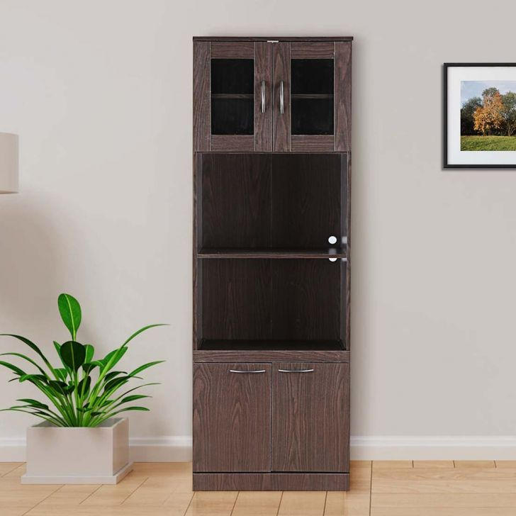 Penelope Engineered Wood Storage Cabinet in Oak Brown Colour by HomeTown