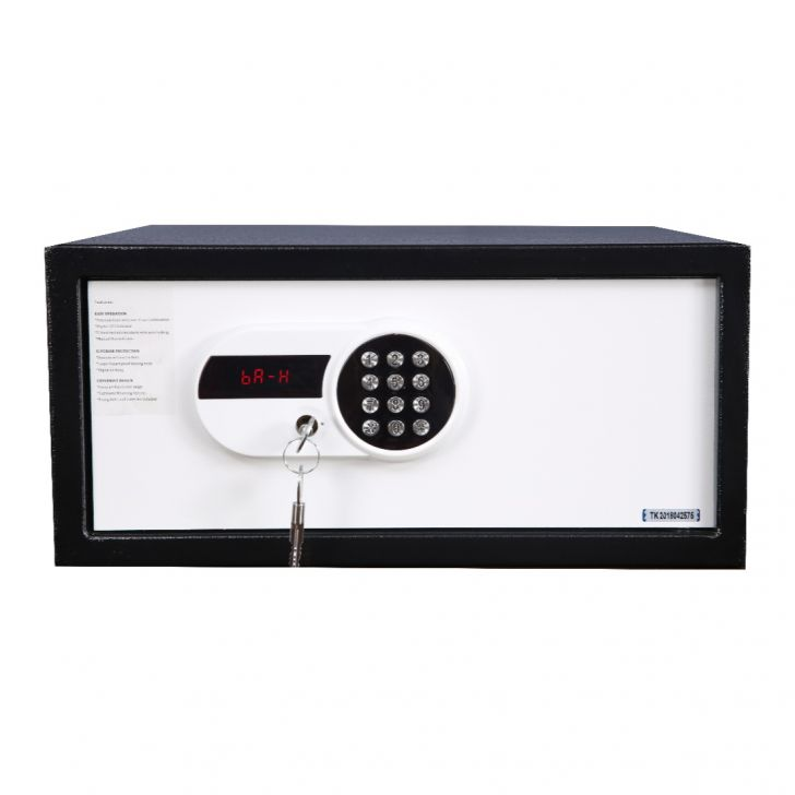 Shield Mild Steel Safe in Black&white Colour by HomeTown