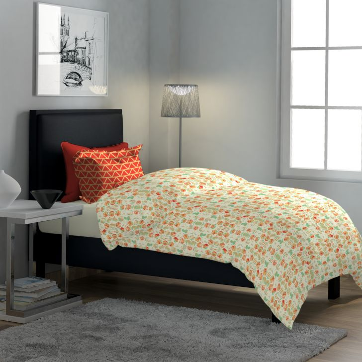 Classic Polycotton Single Bedsheet in Red Colour by Dreamline