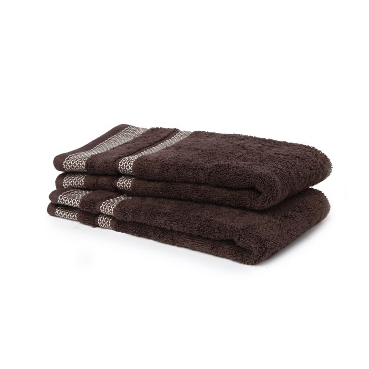 Hygro Cotton Hand Towel 40X60 Cm 600 Gsm in Chocolate Colour