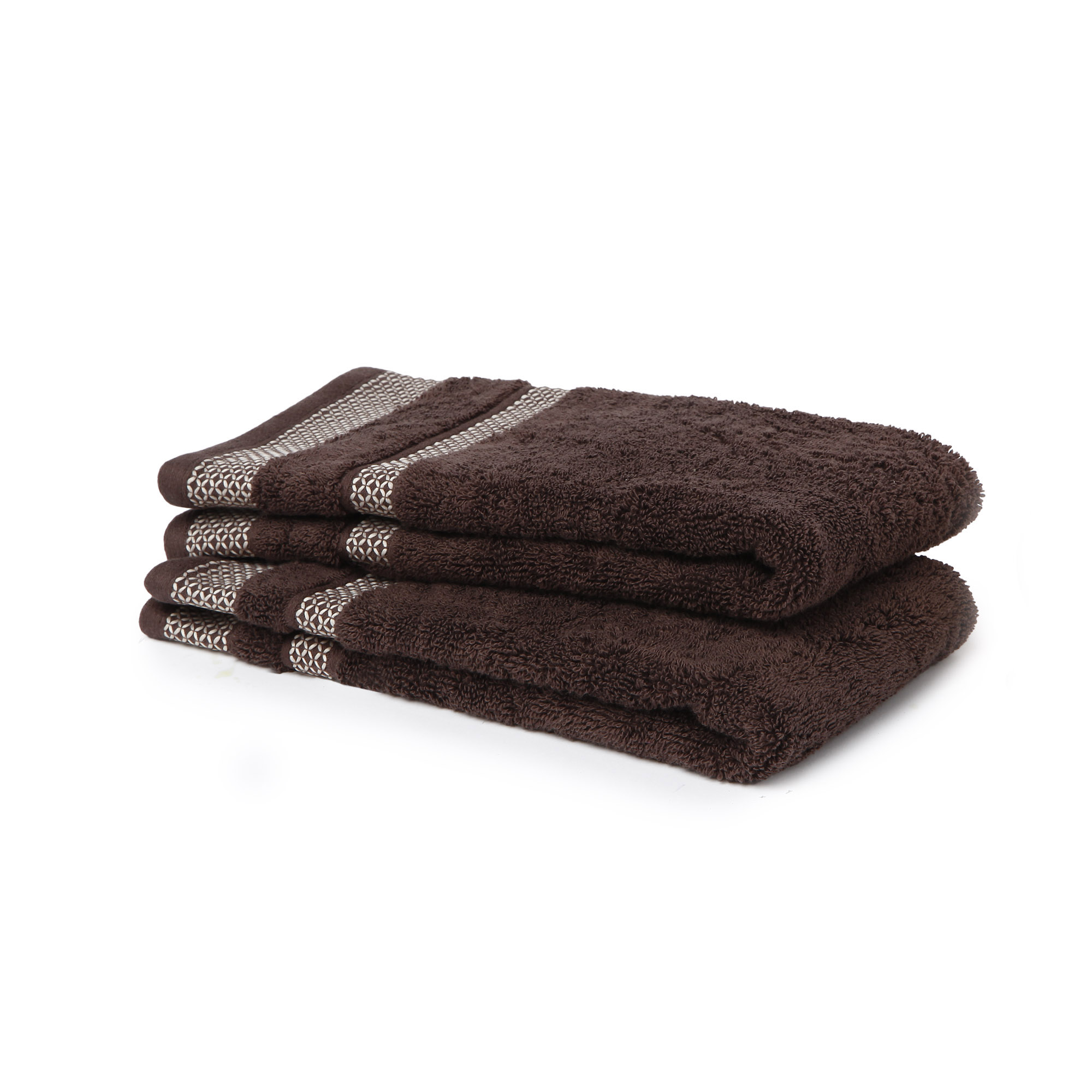 Spaces Bohochic Cotton King Bed Sheets in Chocolate Colour by Spaces